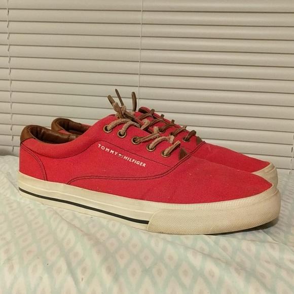 c5a7a3acf7be43 Tommy Hilfiger red sneakers sz 10.5. M 5a8b6dfb36b9de91b0daa8db